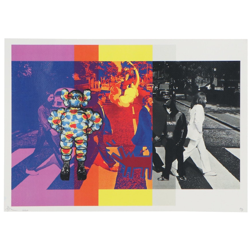 Death NYC Giclée of The Beatles with Cartoons
