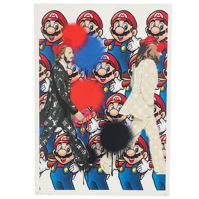 Death NYC Pop Art Giclée of Mario and The Beatles, 2020