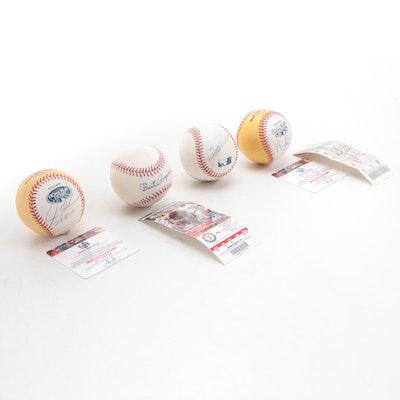 "Texas Rangers Signed Rawlings ""Home Run Derby"" Gold ""Money"" Baseballs, More, COA"