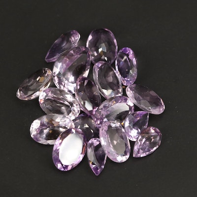 Loose 83.65 CTW Faceted Amethyst Selection