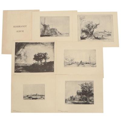Portfolio of Landscape Halftones after Rembrandt, Mid-20th Century