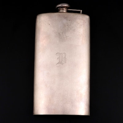 Webster Sterling Silver Flask, Early to Mid 20th Century