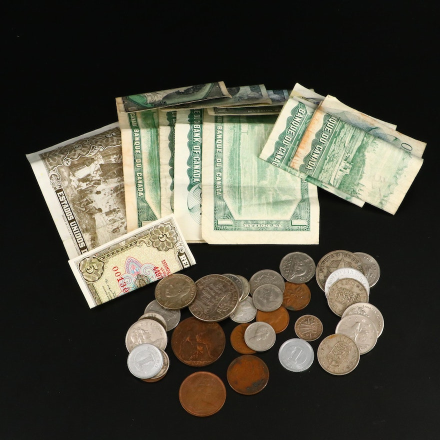 Canadian Coins and Currency, Mid to Late 20th Century