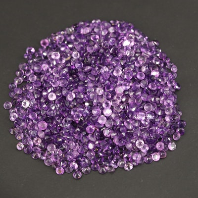 Loose 118.75 CTW Round Faceted Amethysts