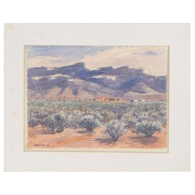 Landscape Watercolor Painting, 1993