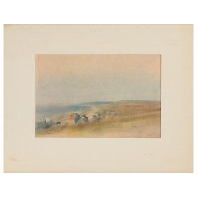 "Offset Lithograph After Edgar Degas ""House Upon Cliffs Overlooking a Bay"""
