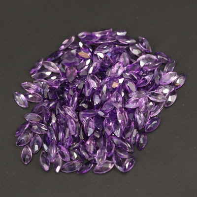 Loose 62.00 CTW Marquise Faceted Amethysts