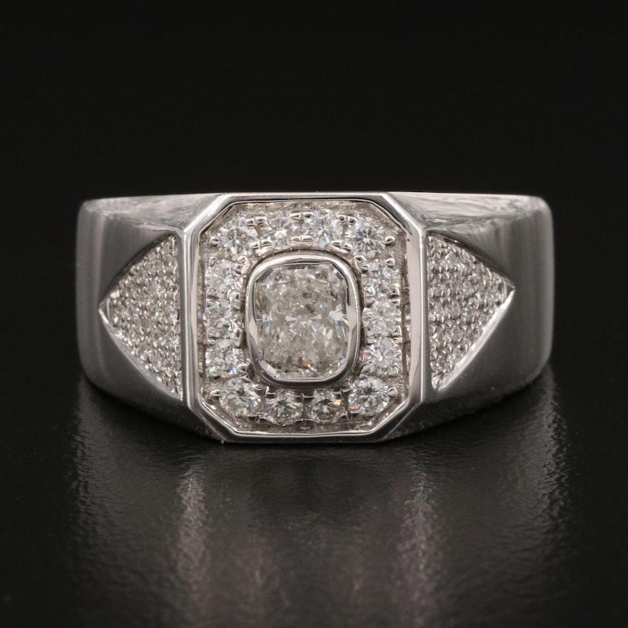 14K 0.96 CTW Diamond Ring