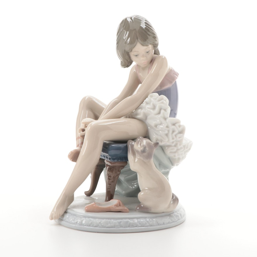 """Llladró """"Can I Help?"""" Porcelain Figurine, Late 20th Century"""