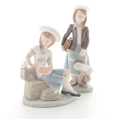 "Lladró ""Autumn"" and ""Sunday's Child"" Figurines Designed by Juan Huerta"