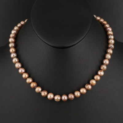 Pearl Necklace with 14K and 10K Findings