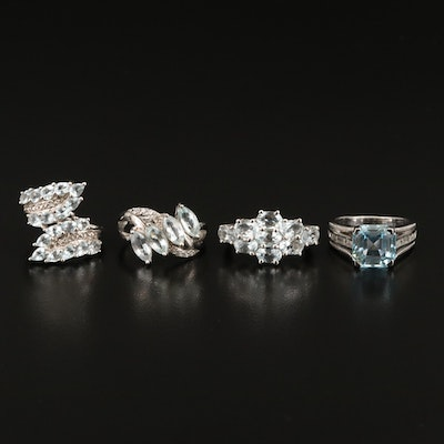 Sterling Rings Including Diamond and Gemstone