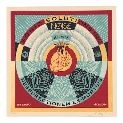 "Shepard Fairey Serigraph ""NØISE/SSI Resurrectionem Ex-Mortuis Remix,"" 2020"