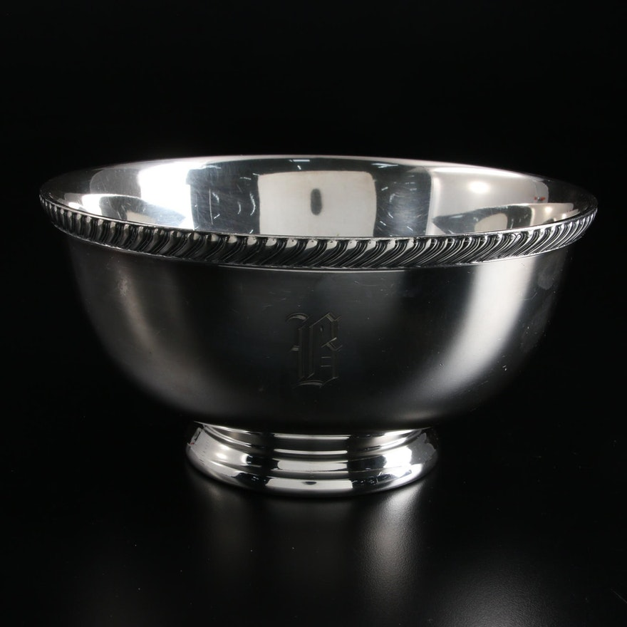 Reed & Barton Silver Plate Footed Bowl, 1940