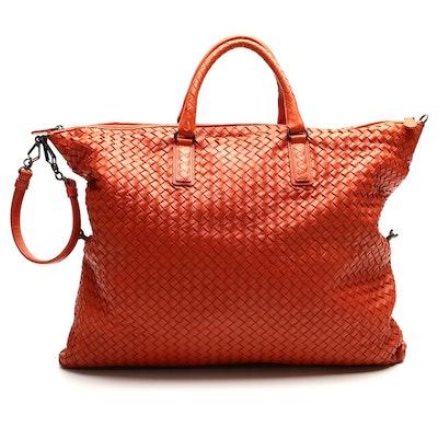 Bottega Veneta Intrecciato Woven Nappa Leather Convertible Bag