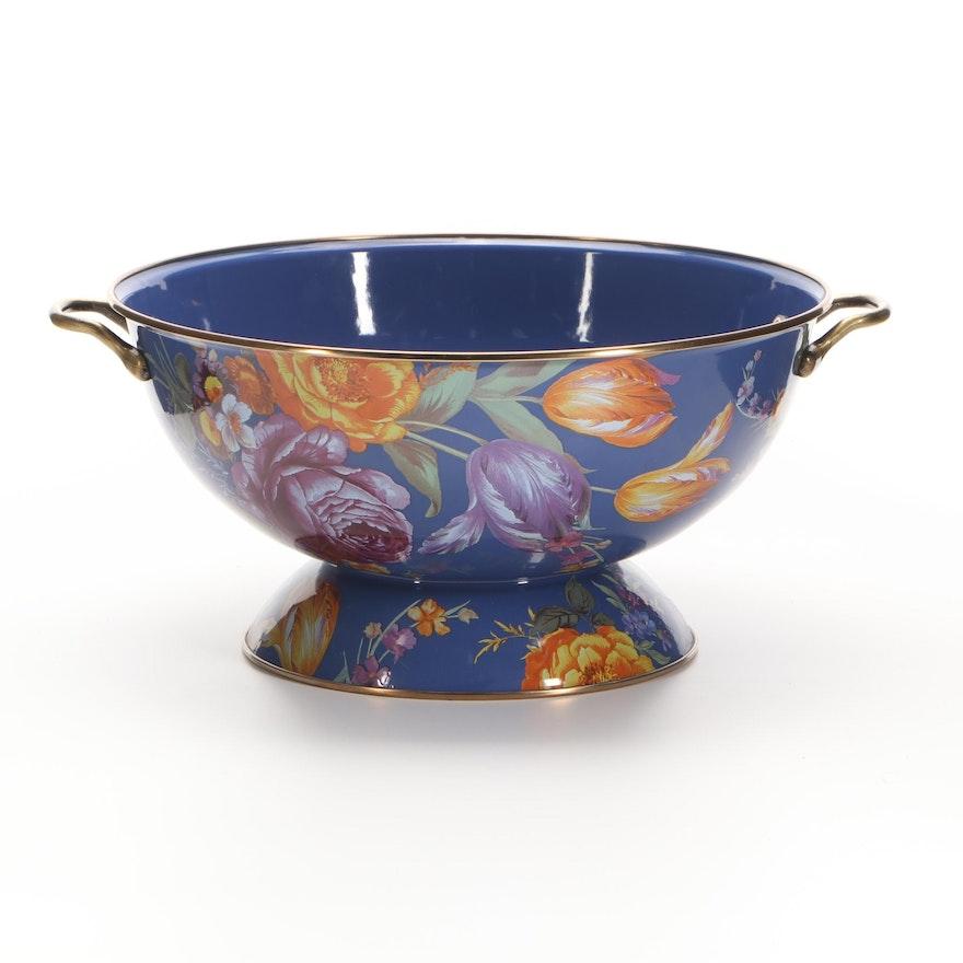 "MacKenzie-Childs Lapis ""Flower Market"" Large Centerpiece Bowl"