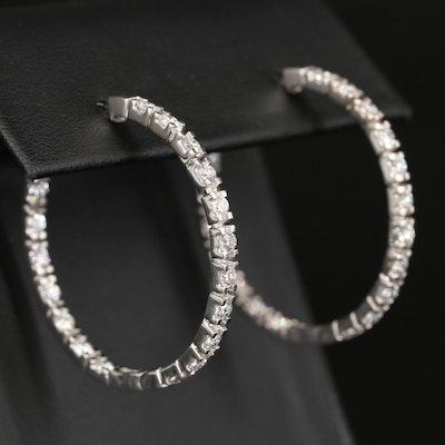 14K 1.75 CTW Diamond Inside-Out Earrings