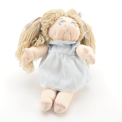 """Soft Sculpture Doll in Style of """"The Little People"""", Signed and Dated 1981"""