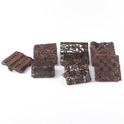 Metal Batik Fabric Hand Printing Blocks