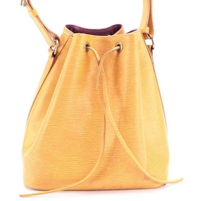 Louis Vuitton Noé Bucket Bag in Tassil Yellow Epi Leather