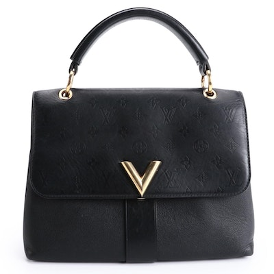Louis Vuitton Very One Handle Bag in Black Leather