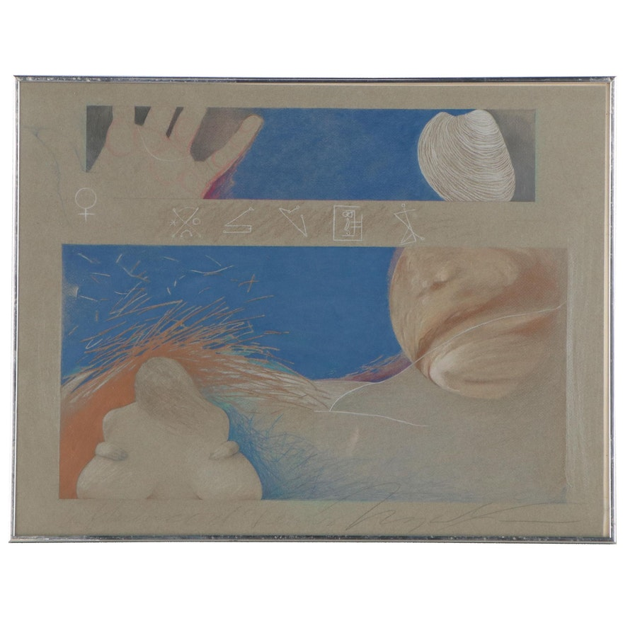 """Angela McElwain Mixed Media Drawing """"The Aspects of Venus"""""""