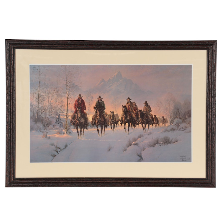 """G. Harvey Offset Lithograph """"Men of the Great Northwest"""""""