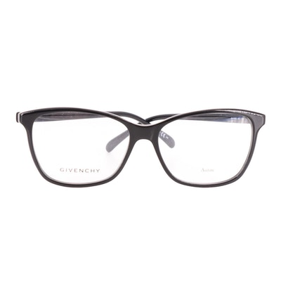 Givenchy GV 0092 Horn-Rimmed Eyeglasses in Black Acetate with Case