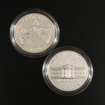 Two U.S. Modern Commemorative Proof Silver Dollars