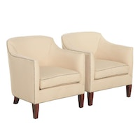 Pair of Upholstered Club Chairs, Late 20th Century