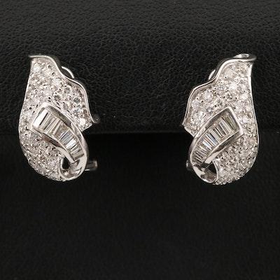 18K 1.88 CTW Diamond Earrings