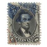 1861–1866 Abraham Lincoln Black 15-Cent Stamp, Scott #77