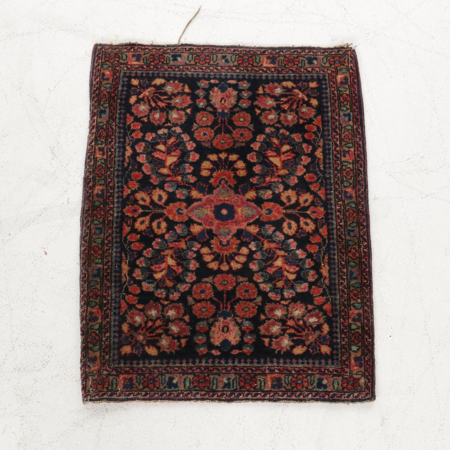 1'11 x 2'6 Hand-Knotted Persian Sarouk Accent Rug