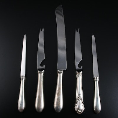 Web Silver Sterling Silver and Stainless Steel Knives