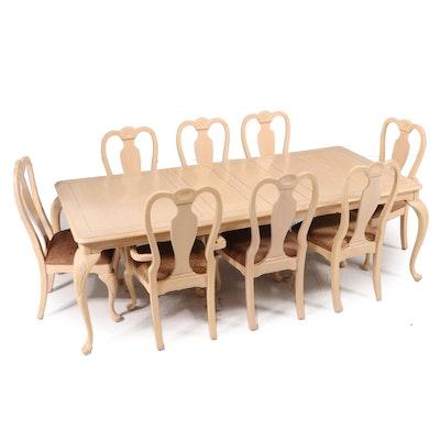 "Lexington ""Grand Tour"" Nine-Piece Queen Anne Style Painted Wood Dining Set"