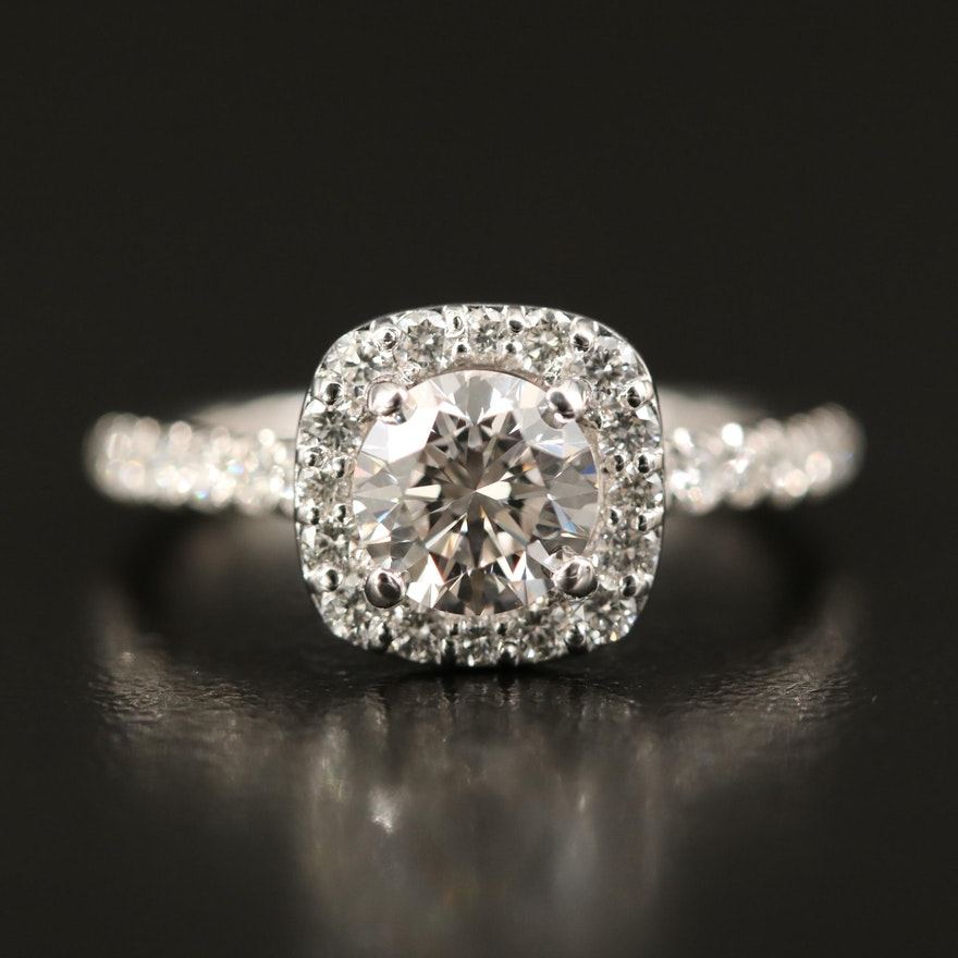 14k Gabriel & Co. 1.56 CTW Diamond Ring