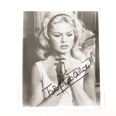 Brigitte Bardot Autographed Photo Print