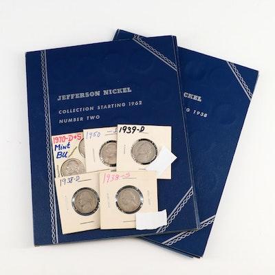 Key Date Jefferson Nickels in Whitman Coin Binders, 1938–1977