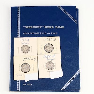 Mercury Silver Dimes, Including Key Date 1921