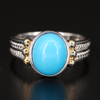 Sterling Silver Faux Turquoise Ring