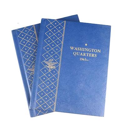 Washington Quarters in Two Whitman Coin Binders 1965–1971