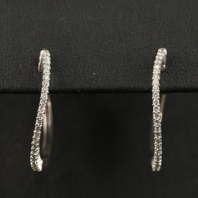 10K Diamond Hoops