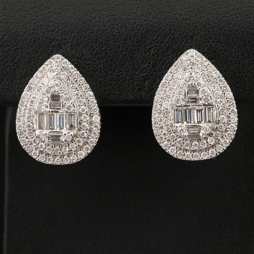 14K 2.23 CTW Diamond Earrings