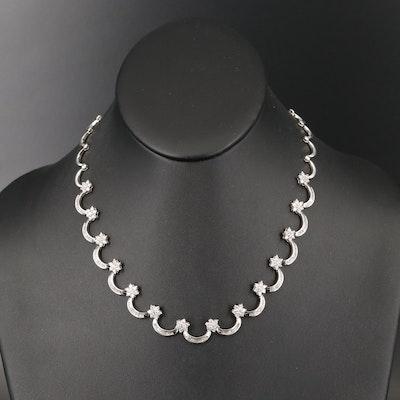 18K 4.59 CTW Diamond Garland Necklace