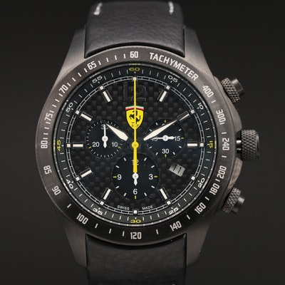 "Scuderia Ferrari ""Carbon Chrono"" Stainless Steel Quartz Wristwatch"