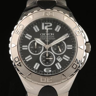 Stainless Steel Croton Chronomaster Wristwatch