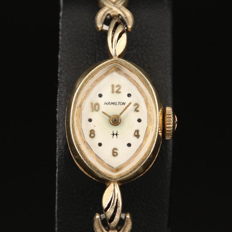 14K Hamilton Wristwatch