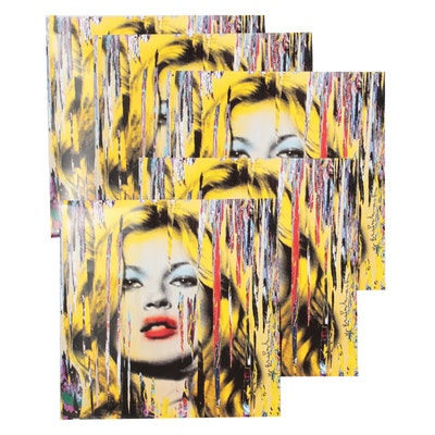"Offset Lithographs after Mr. Brainwash ""Kate Moss,"" 21st Century"