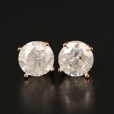 14K 2.19 CTW Diamond Stud Earrings