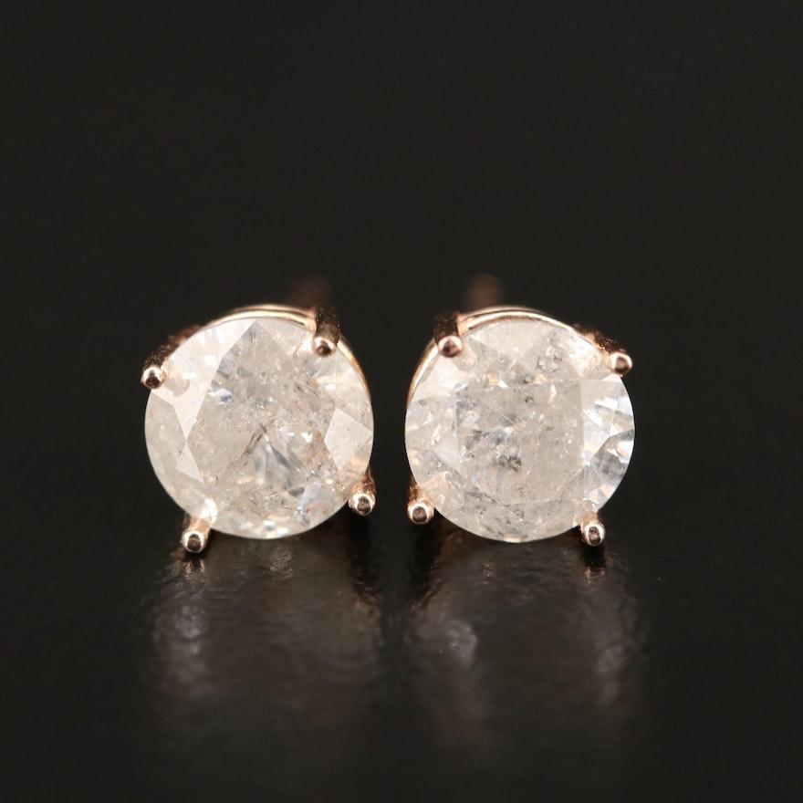 14K 2.06 CTW Diamond Stud Earrings